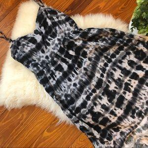 Nordstrom Tie-Dye Patterned High-Low Dress
